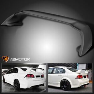 For 2006 2011 Honda Civic 4dr Sedan Black Mug Style Abs Trunk Spoiler Wing 06 11