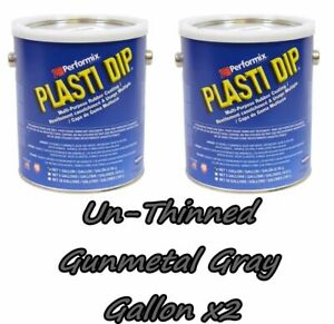 2 Gallons Gunmetalgrey Plasti Dip Unthinned Performix Concentrate Strength