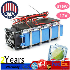 12v 576w 8 chip Tec1 12706 Diy Thermoelectric Cooler Refrigeration Device Us