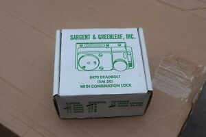 New In Box Sargent Greenleaf 8470 Dead Bolt sm50 8435 With Combination Lock