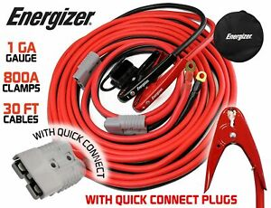 Energizer 1 gauge 800a Permanent Installation Kit Jumper Battery Cables With