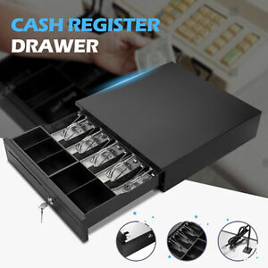 Cash Drawer Box 5 Bill 5 Coin Tray Heavy Duty Work With Epson Tray Pos Printers