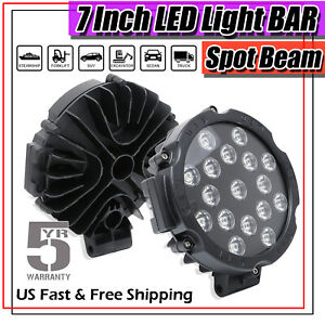 7inch 1360w Led Work Light Bar Round Spot Beam Offroad 4wd Suv Driving Fog Lamp
