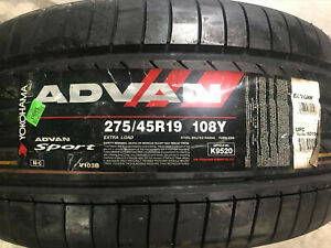 4 New 275 45 19 Yokohama Advan Sport Tires