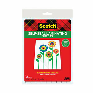 Scotch Self seal Laminating Pouches Ls854ss10
