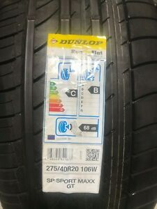2 New 275 40 20 Dunlop Sp Sport Maxx Gt Rof Run Flat Tires