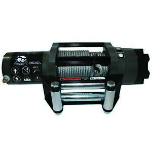 Bulldog Winch 15022 6000lb Powersports Winch 55 Wire Rope 20 Wired Controller