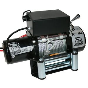 Bulldog Winch 10004 6000lb Winch With Wore Rope And Roller Fairlead