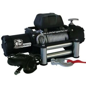 Bulldog Winch 10046 12000lb Winch W 6 0hp Series Wound 100ft Synthetic Rope