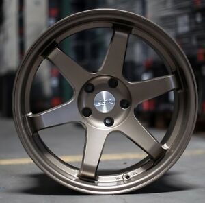 18 Inch Esr Sr07 Bronze Wheels 18x9 5 22 5x100 Rims Set 4