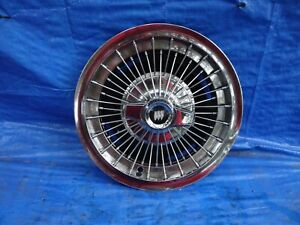 1963 1964 Buick Riviera 225 15 Wire Spoked Spinner Wheel Cover Hub Cap