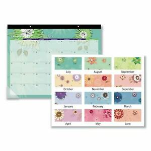 2020 Desk Calendar at a glance Desk Pad 21 3 4 x 17 paper Flowers free Shipping