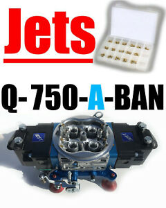 Quick Fuel Q 750 a ban 750 Annular Alcohol Mech Blow Thru 8 Fittings W Jet Kit