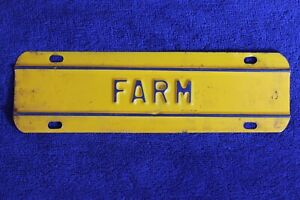 Vintage Farm Truck License Plate Topper Accessory Pickup Ford Gm Ram Dodge Chevy