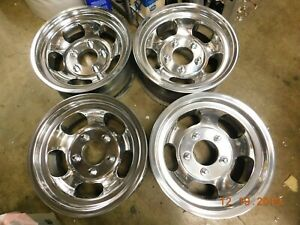 Set Vintage 15x7 Slot Mag Wheels Ford Truck 70 s Van Jeep Mags E 100 F 150 Scout