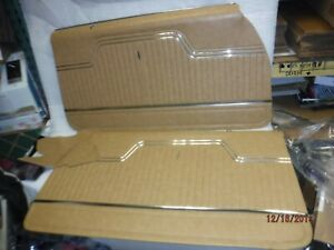 New 1970 1972 Chevelle Saddle Front Door Panels Fully Assembled Malubu Ss Conv