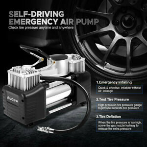 Double Cylinder Air Pump Compressor 12v 150psi Heavy Duty Car Auto Tire Inflator