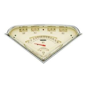 Classic Instruments Tf01t 1955 59 Chevy Truck Gauge Set Tan Face