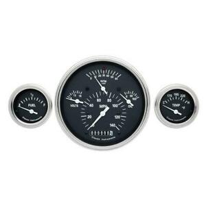 Classic Instruments Ch01bslf Tetra Series 1957 Chevy Gauge Set Black