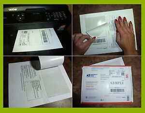 750 Labels Paypal ebay usps Shipping With Tear Off Paper Receipt 4 Laser Inkjet