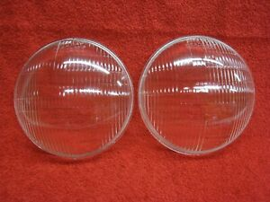 Nos 1937 Plymouth Chrysler Desoto Riteway Headlight Or Headlamp Lenses Pair