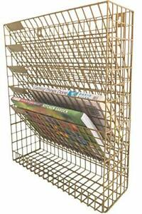 Wall File Wire Mesh Organizer Hanging Letter Mail Bill Document Sorter Wall