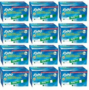 Expo 80004 Low Odor Dry Erase Markers Chisel Tip case Of 12 Dozens green