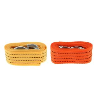 2 X Heavy Duty Tow Strap With Safety Hooks 2 X 10ft 10 000 Lb Capacity