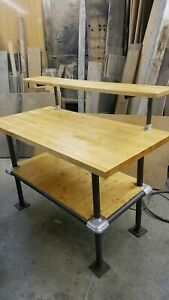 Industrial Factory Pipe Work Table Kitchen Island