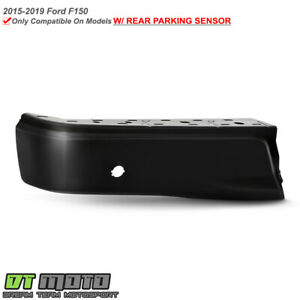 2015 2019 Ford F150 Black Rear Bumper Face Bar End Cap W sensor Hole Driver Side