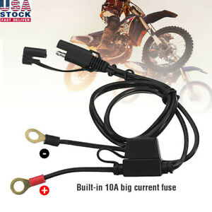 Motorcycle Battery Terminal Ring Connector Harness 12v Charger Adapter Cable Ca
