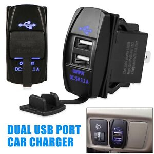 12 24v 3 1a Dual Led Usb Car Auto Power Supply Charger Port Socket Waterproof Gh