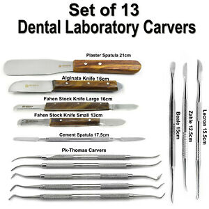 Dental Lab Technician Modelling Wax Cement Mixing Carvers Restorative Spatulas