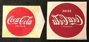 2 - SMALL WATER ACTIVATED COCA COLA DECALS 2 1/8