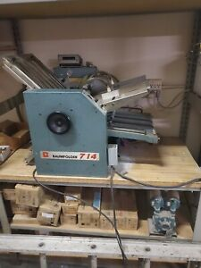 Baum 714 Air Feed Folder