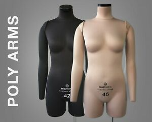 Poly Arms For Tailor Dress Form Soft Pinnable Arms For Sewing Mannequin