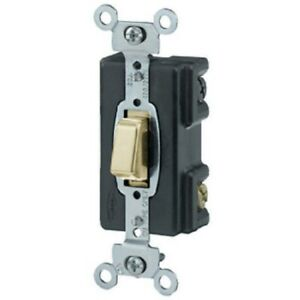 Hubbell Hbl 12881 Push Button Lighted 3 way Switch