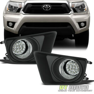 For 2012 2015 Toyota Tacoma Pickup White Led Fog Lights Driving Lamps W Switch