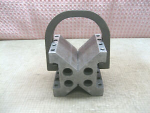 Vtg Machinist Large Precision V Block 4x4 3 4x4 3 4 Consolidated Aircraft Prod