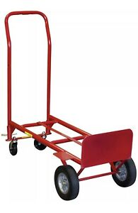 Convertible 2 in 1 Hand Truck Trolley Heavy Duty Powder coated 600 Lbs Capacity