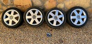 Audi Tt 17 Wheel Mk1 Oem Vw Mk4 Golf Gti Jetta Gli Caps Tires