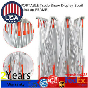 Pop up Tension Fabric Trade Show Display Booth Frame Stand Pop Up 10 8ft New