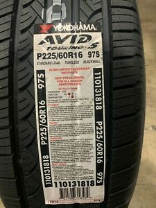 4 New 225 60 16 Yokohama Avid Touring S Tires
