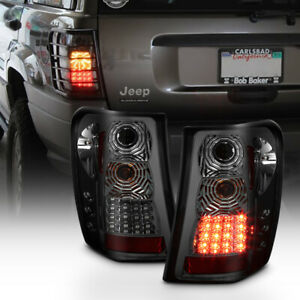 Smoked 1999 2000 2001 2002 2003 2004 Jeep Grand Cherokee Led Tail Lights