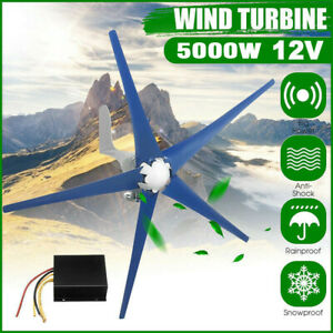 5 Blades 5000w Wind Turbine Generator Unit Dc 12v With Power Charge Controller