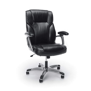 Essentials High back Leather Executive Office computer Chair With Arms Swivel