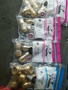 Lot Of Various Sharkbites Plumbing Fittings Pipe Water Supply All Bags Sealed
