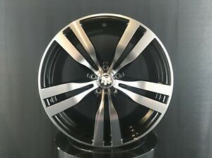 Black Machine Wheels Rims 20x10 11 Inch Et45 40 For Bmw X5 X6 E70 F15 E71 F16 M