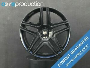 22x10 Inch 5x112 Black Satin For Mercedes Gl Gle Gla Glk Glc Ml Mlk Amg