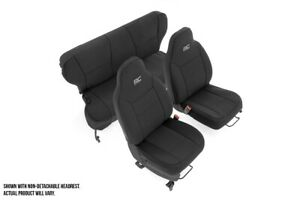 Rough Country Neoprene Seat Covers Sets Black fits 1997 2001 Jeep Cherokee Xj